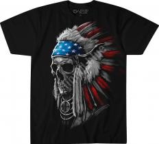 USA Chief Skull - Liquid Blue