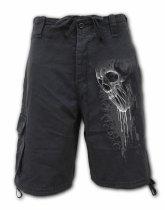 Bat Curse - Krótkie Spodnie Denim Spiral