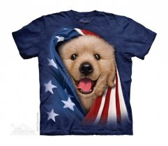 Patriotic Golden Pup - The Mountain - Junior
