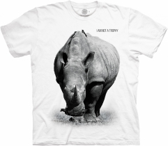 Rhino Not a Trophy White Protect - The Mountain