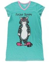 Feline Sleepy Nightshirt - Koszula Nocna - LazyOne
