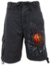 Steampunk Skull - Krótkie Spodnie Denim Spiral