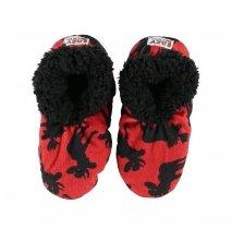 Moose Red Fuzzy Feet - Papcie Dziecięce LazyOne