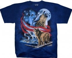 American Wolf Moon - Liquid Blue