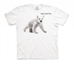 Bear Cub Climate Change White Protect - Junior The Mountain