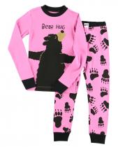 Girls Bear Hug - Piżama Dziecięca Długi rękaw - LazyOne
