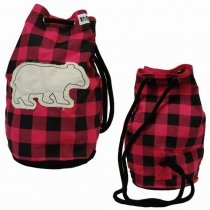 Bear Plaid Tote Bag - worek - LazyOne