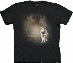Grey Wolf Portrait Black - The Mountain Base