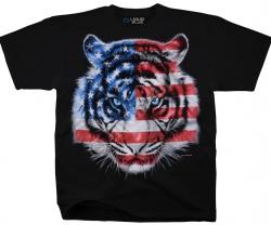 Patriotic Tiger - Liquid Blue