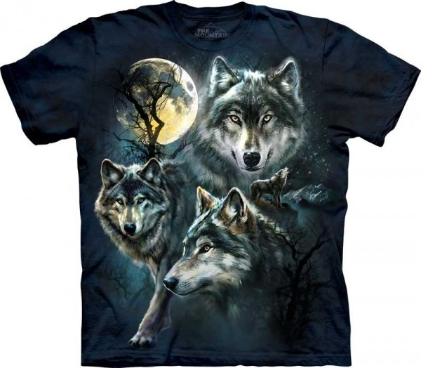 Moon Wolves Collage - The Mountain