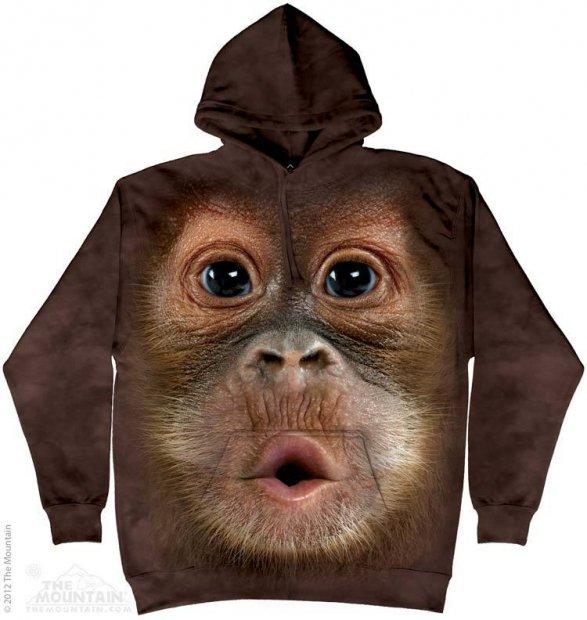 Big Face Baby Orangutan - Mikina The Mountain