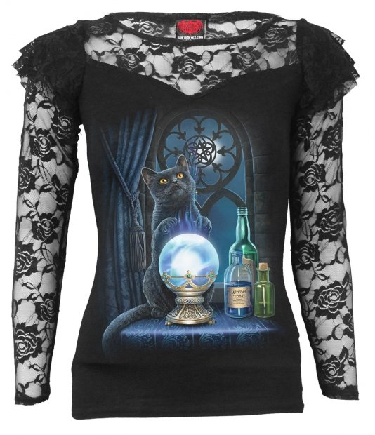 The Witches Aprentice - Lace Long Sleeve Spiral