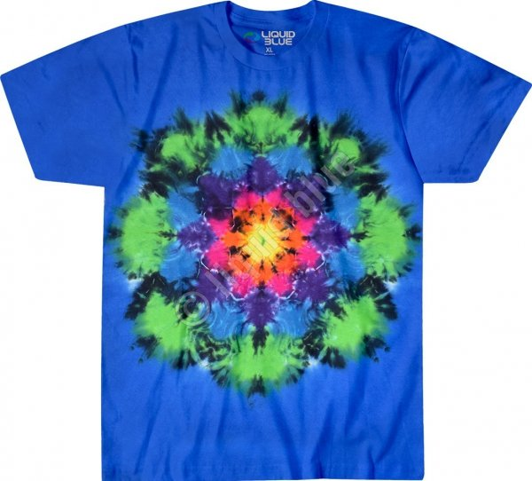 Rainbow Mandala - Liquid Blue