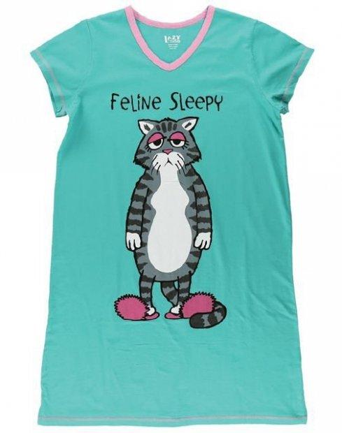 Feline Sleepy Nightshirt - Noční košilka - LazyOne