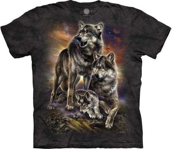 Wolf Family Sunrise - The Mountain
