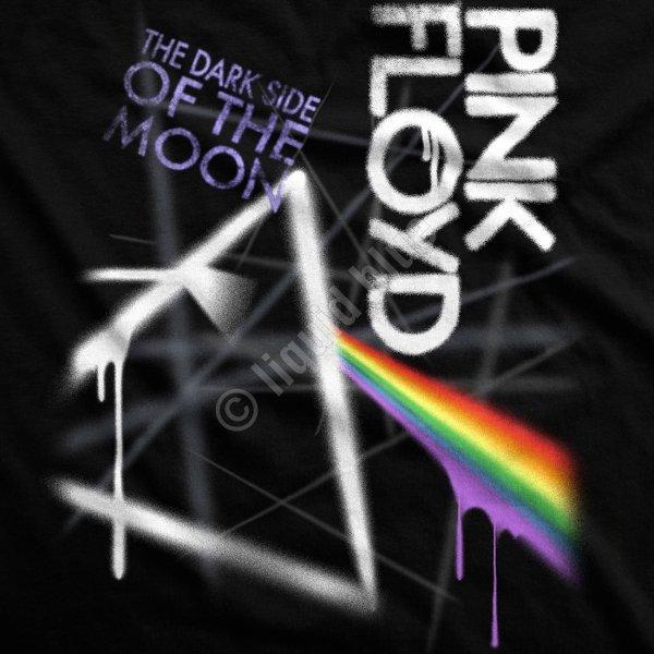 Pink Floyd Dark Side Graffiti - Liquid Blue