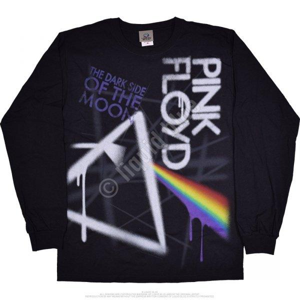 Pink Floyd Dark Side Graffiti LS - Liquid Blue