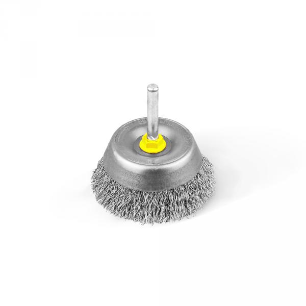 Szczotka doczołowa FI 60 trzpień FI 6 kwasoodporna (004-EKW)
