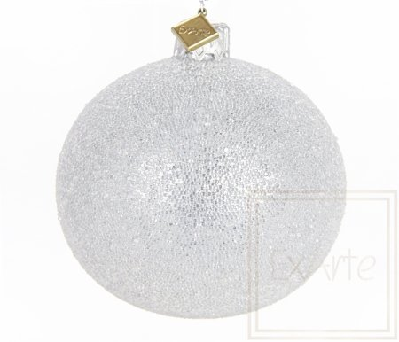 Kula 8cm - Perlisty Szron na srebrze