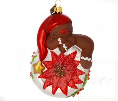 Lebkuchenmännchen 14 cm – Mit Weihnachtsstern