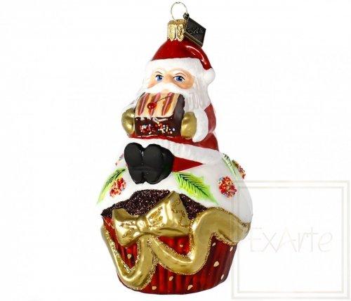 Cupcake mit Weihnachtsmann -  11 cm