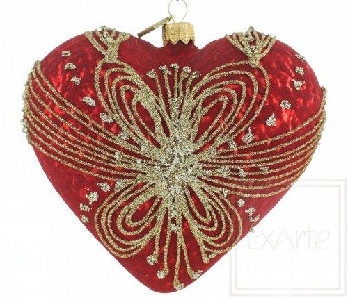 Serce 12cm - Oplecione złotem