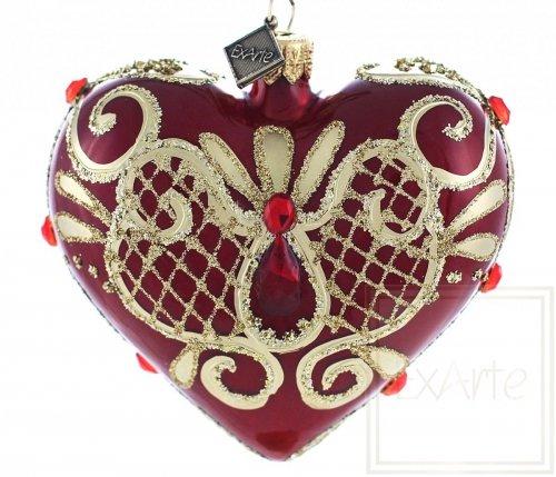 Serce 9,5cm - Rubinowe