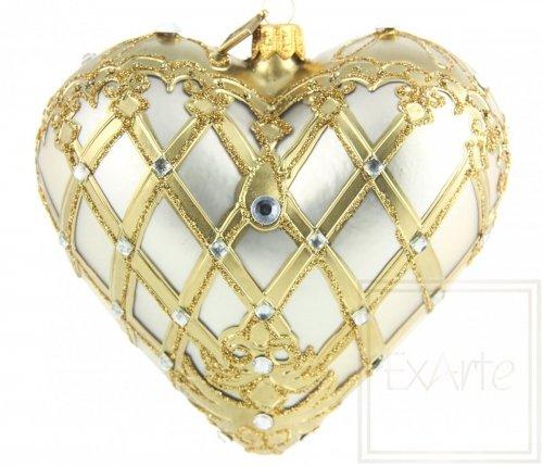 Serce 12cm - Platynowe