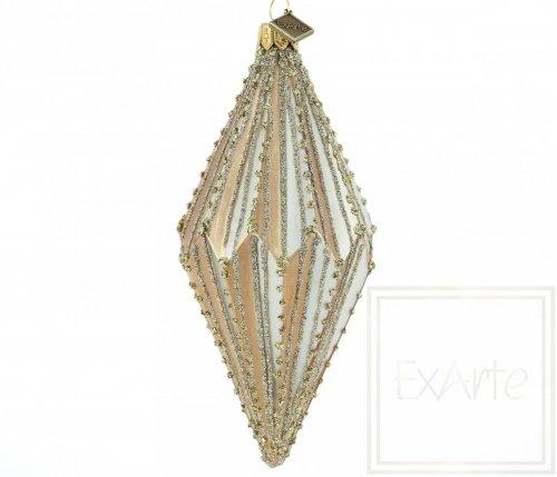 Diament 13cm - Złote sznureczki