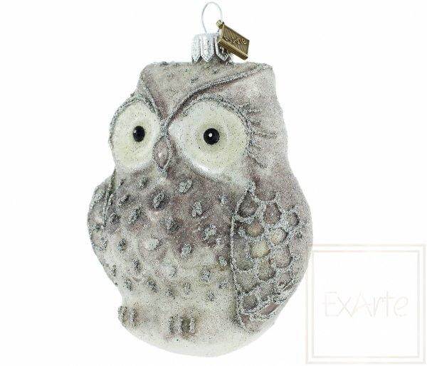 bombka bożonarodzeniowa sowa / Schnee-Eule - 10cm / Snow Owl - 10cm