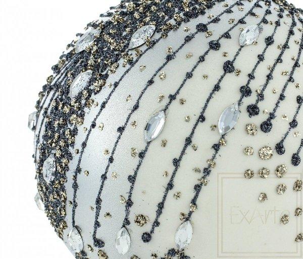 duże bombki srebrne kule / Silbern Weinachstkugeln - 12cm / Silver Christmas bauble - 12cm
