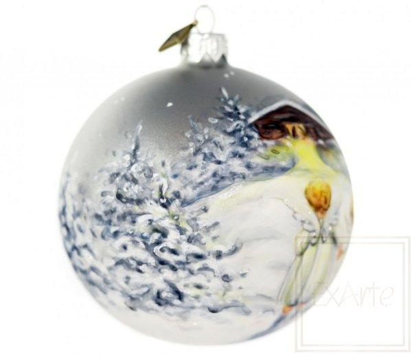 Kugel 10 cm - Weihnachtskrippe