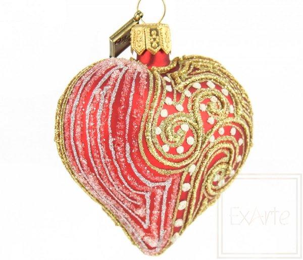 bombki bożonarodzeniowe karminowe serca