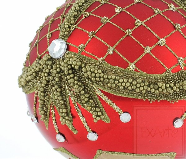Kula 10cm - Królewska czerwień, Ball 10cm - Königlich rot, Ball 10cm - Royal red