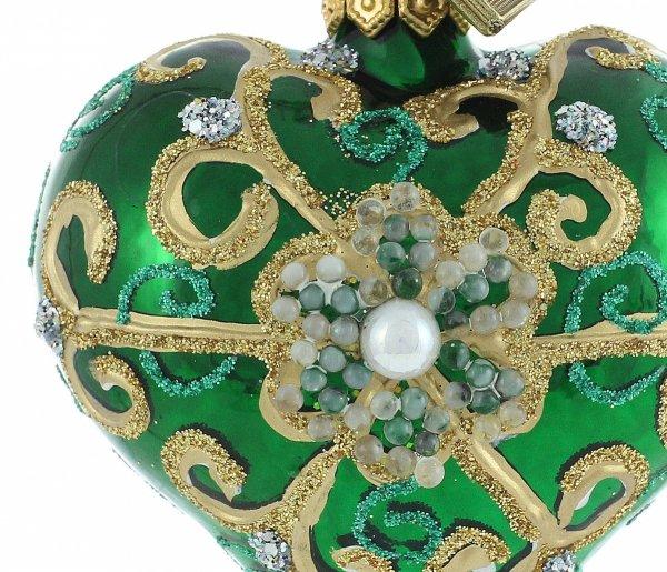 Herz 5cm – Perle in Grün
