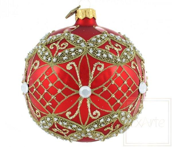rote Weihnachtskugel, czerwona bombka, red bauble