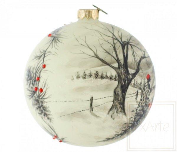 bombka ręcznie malowana zima