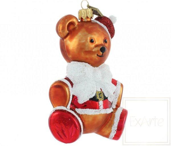 Nikolaus 12cm Christbaumkugel Teddybär