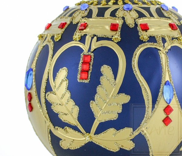 klasyczna granatowa bombka / Ball von 10cm - Schönheit der Symmetrie