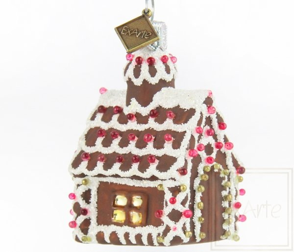 bombka ręcznie dekorowana domek z piernika / Lebkuchenhaus - 6cm