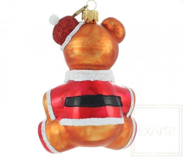 Exarte Christbaumkugel Teddybär Nikolaus 12cm
