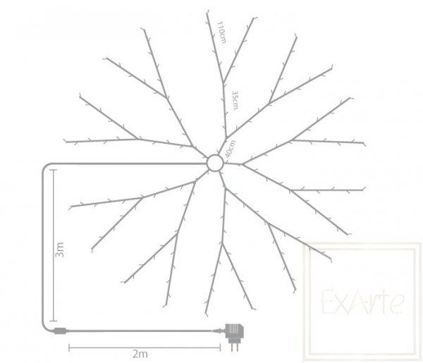 Weihnachtslämpchen Speed- für den Christbaum 2m, warmes weißes Licht