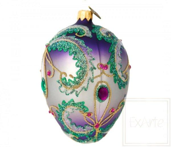 bombki w kolorze fioletu i zieleni / Eier 13cm - Bunte Treffen