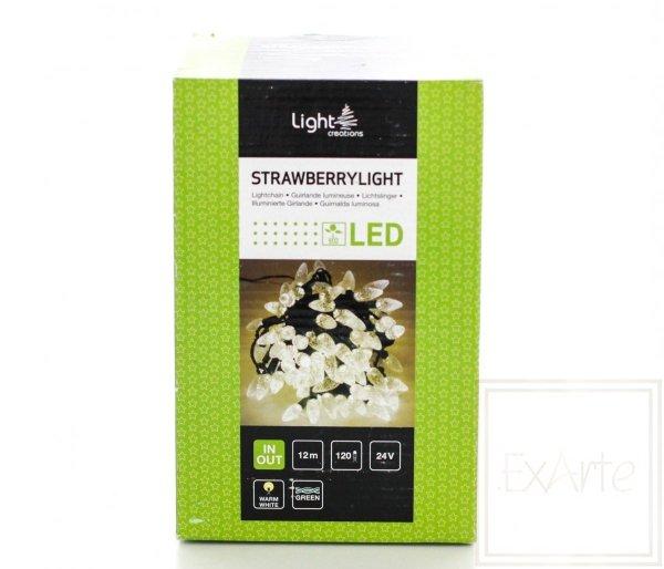 Lampki choinkowe Strawberry - długość 12m, światło białe ciepłe