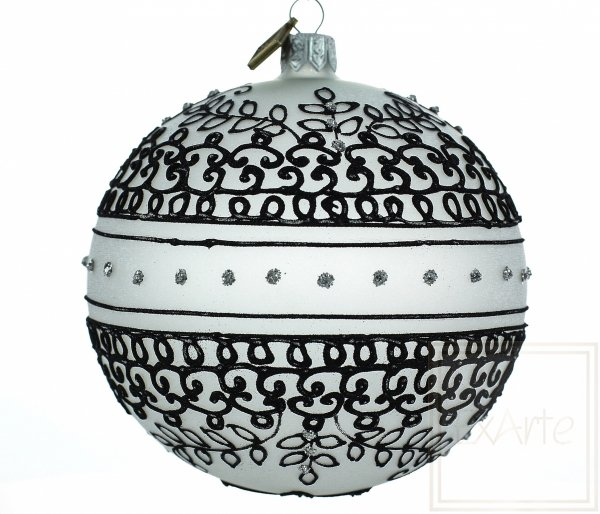 Schwarz und Weiß Weihnachtskugeln, biało-czarne bombki, white and black baubles