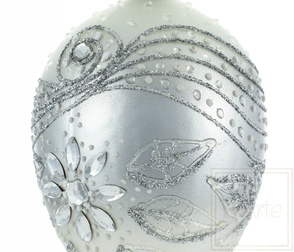 Jajko 13cm - Kryształowy kwiat, Egg bauble 13cm - Crystal flower, Eierkugel 13cm - Kristallblume