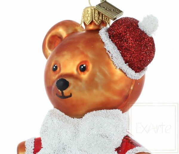 ExArte Nikolaus 12cm Christbaumkugel Teddybär