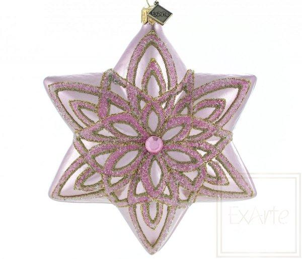 Gwiazda 12cm - Różana poświata