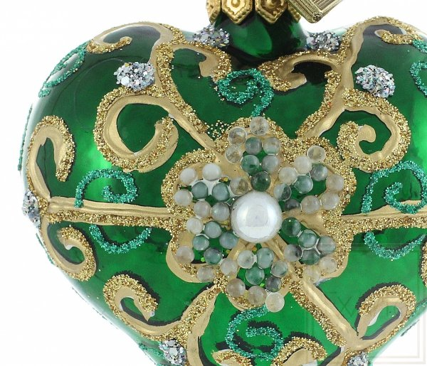 Serce 5cm - Perła w zieleni