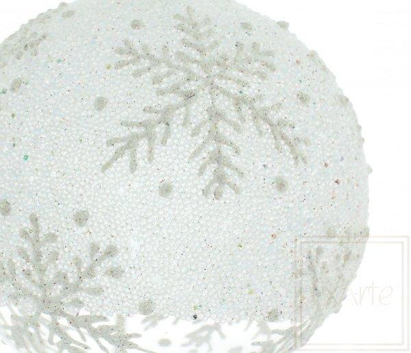 biała bombka śnieżynka / 8cm Kugel - Eisland